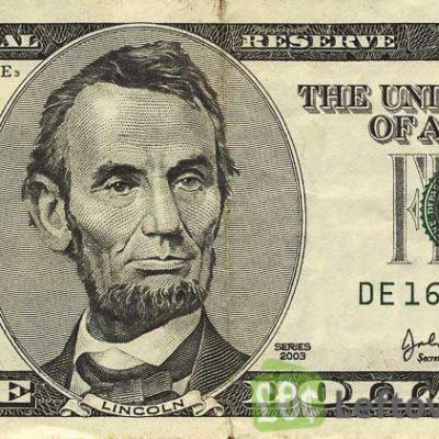 5 دلاری تقلبی